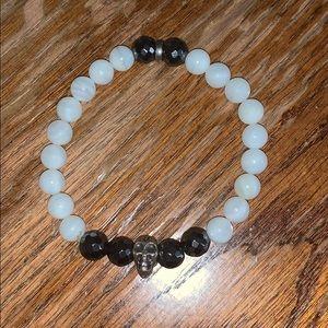 Skull bead bracelet elastic band